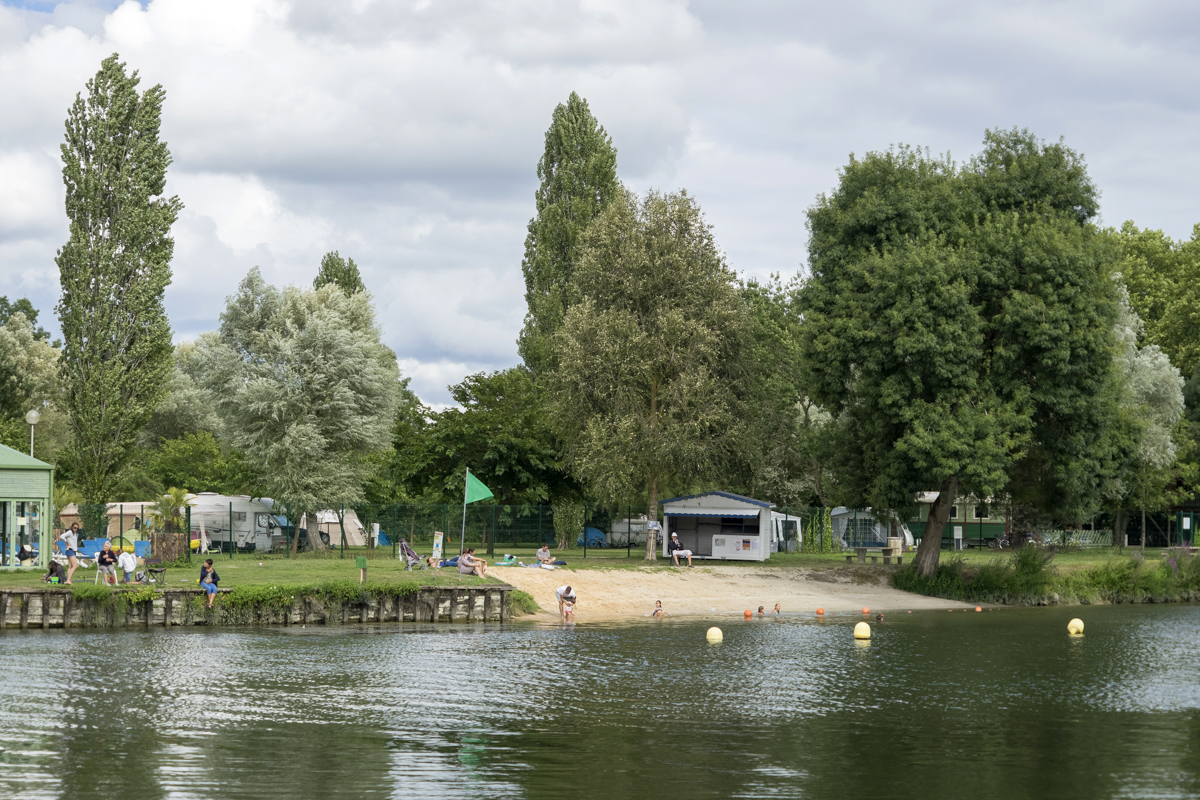 Zone de baignade à Chaniers (17)