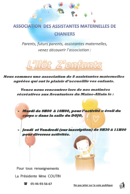 Association Ilot zenfants Chaniers