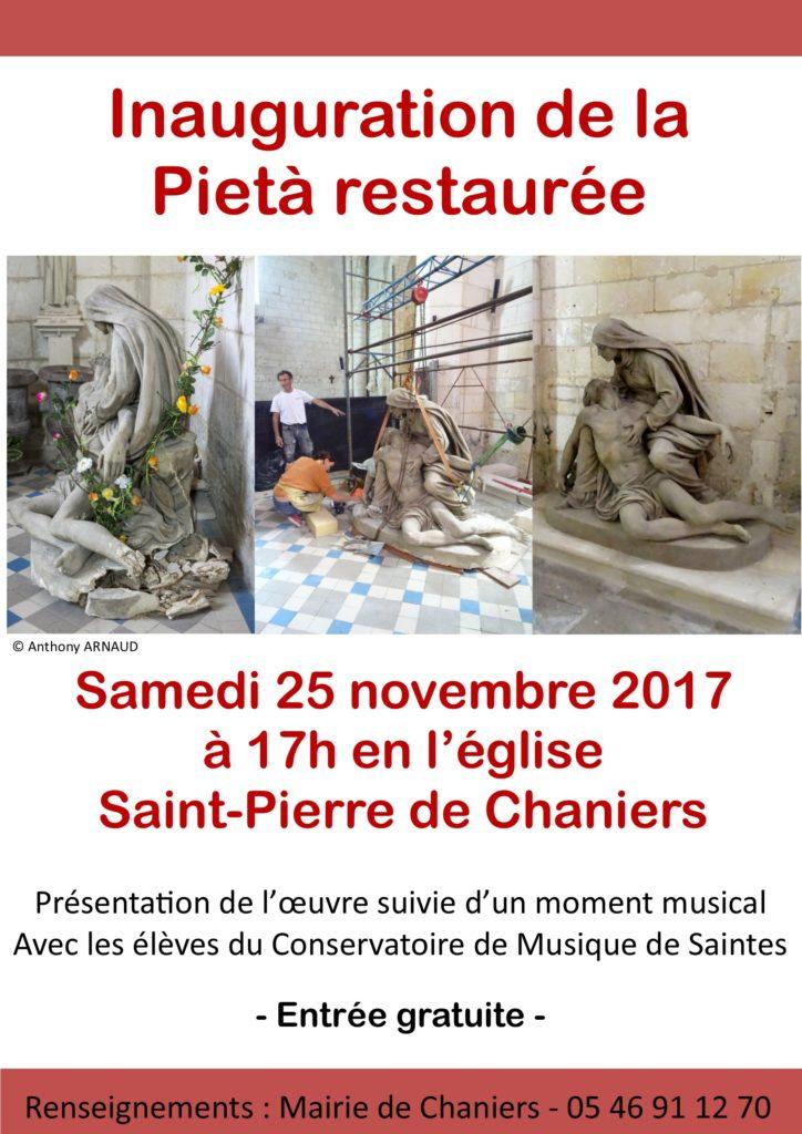 Inauguration de la Pietà restaurée @ Eglise Saint Pierre | Chaniers | Nouvelle-Aquitaine | France