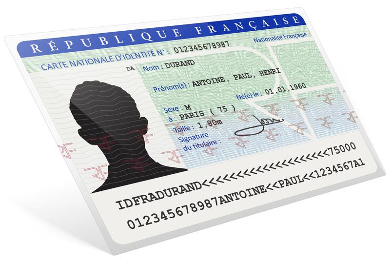 Carte d'identité française - specimen