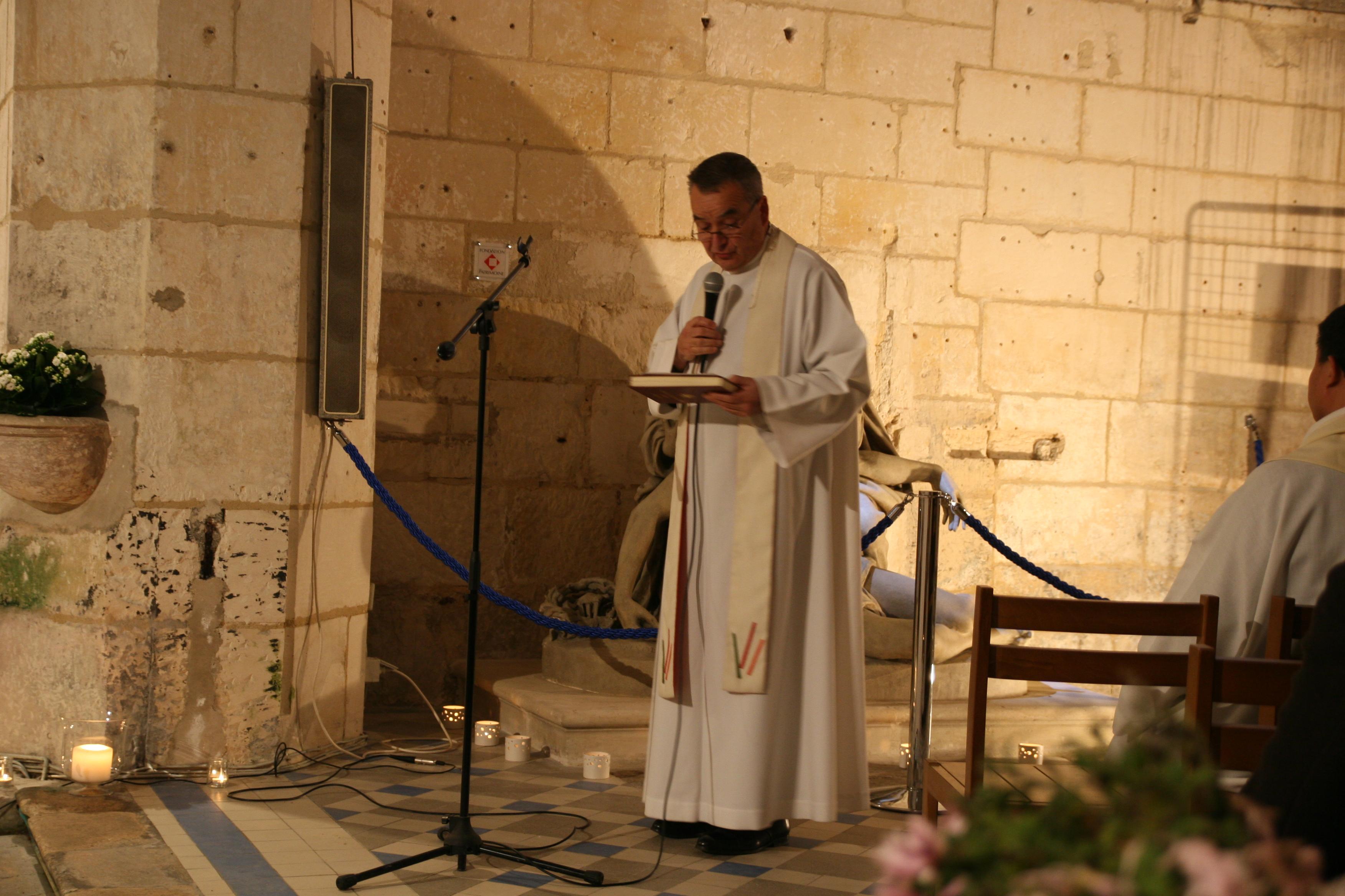 Inauguration de la Pietà - église de Chaniers