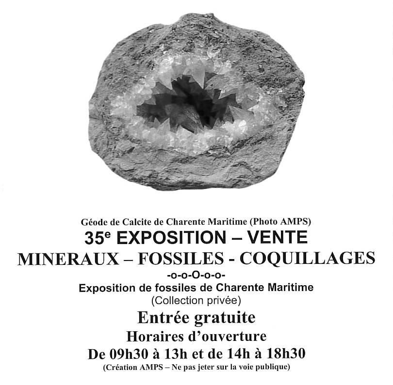 Exposition - Vente de fossiles et minéraux @ Salle des Fêtes | Chaniers | Nouvelle-Aquitaine | France