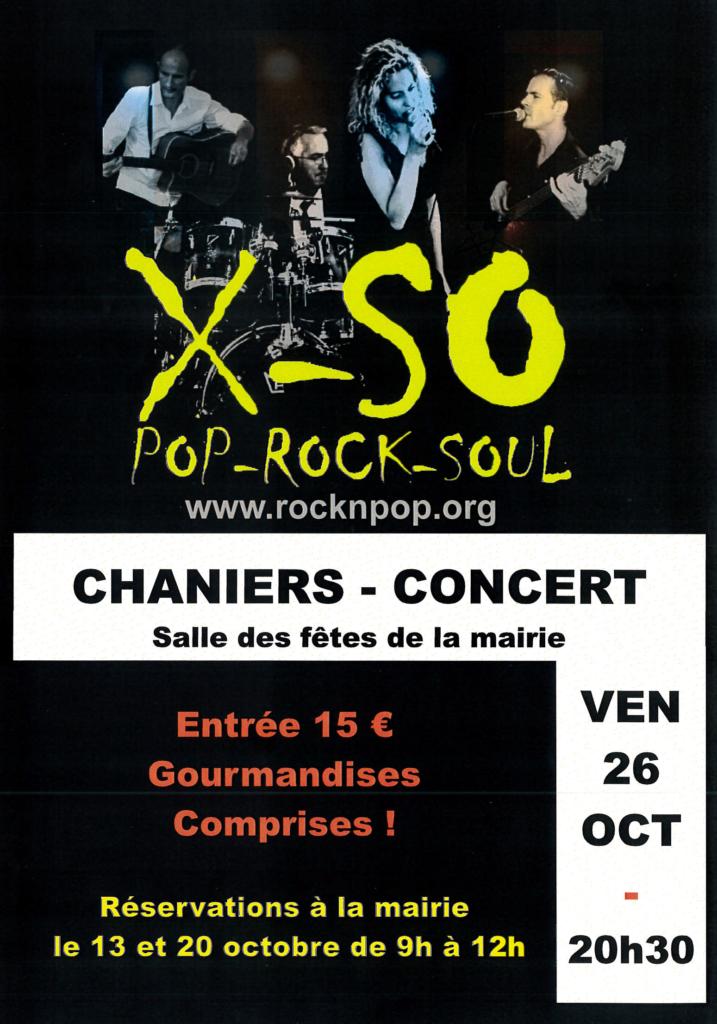 Concert de X-SO @ Salle des Fêtes