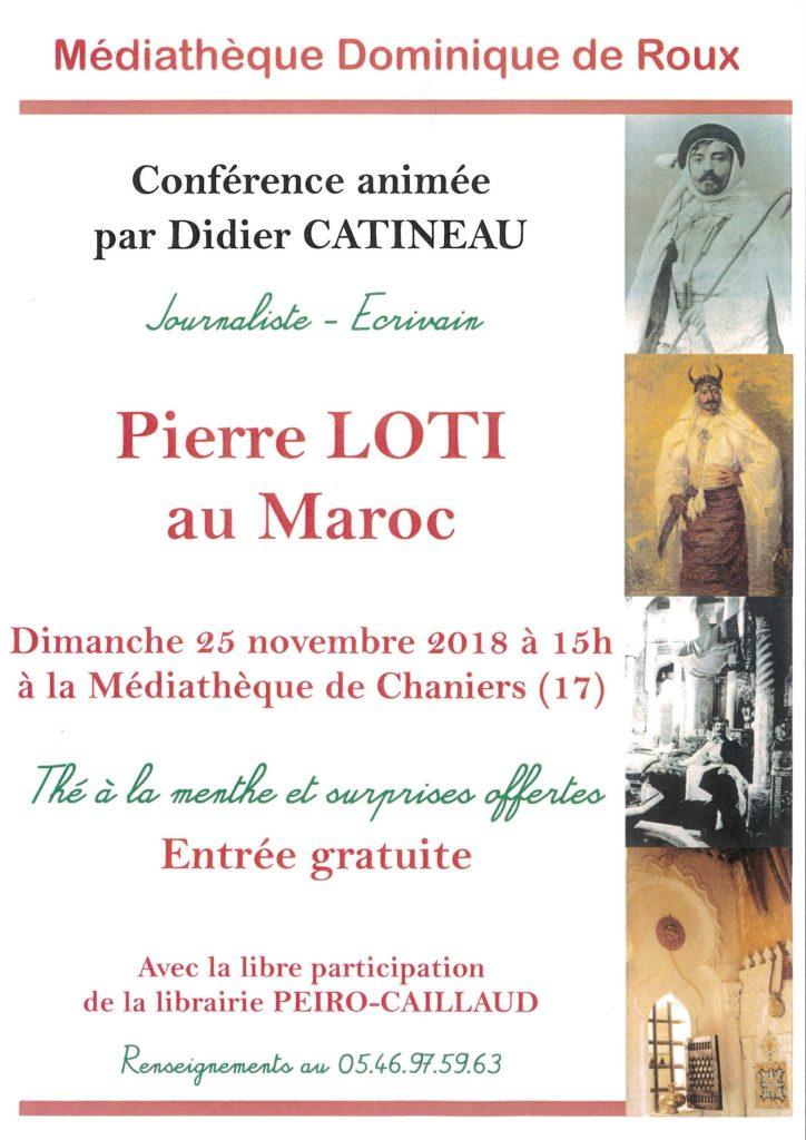 Conférence : Pierre LOTI au Maroc