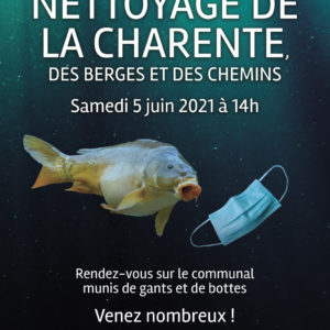 Nettoyage de la Charente et de ses berges @ Le Communal
