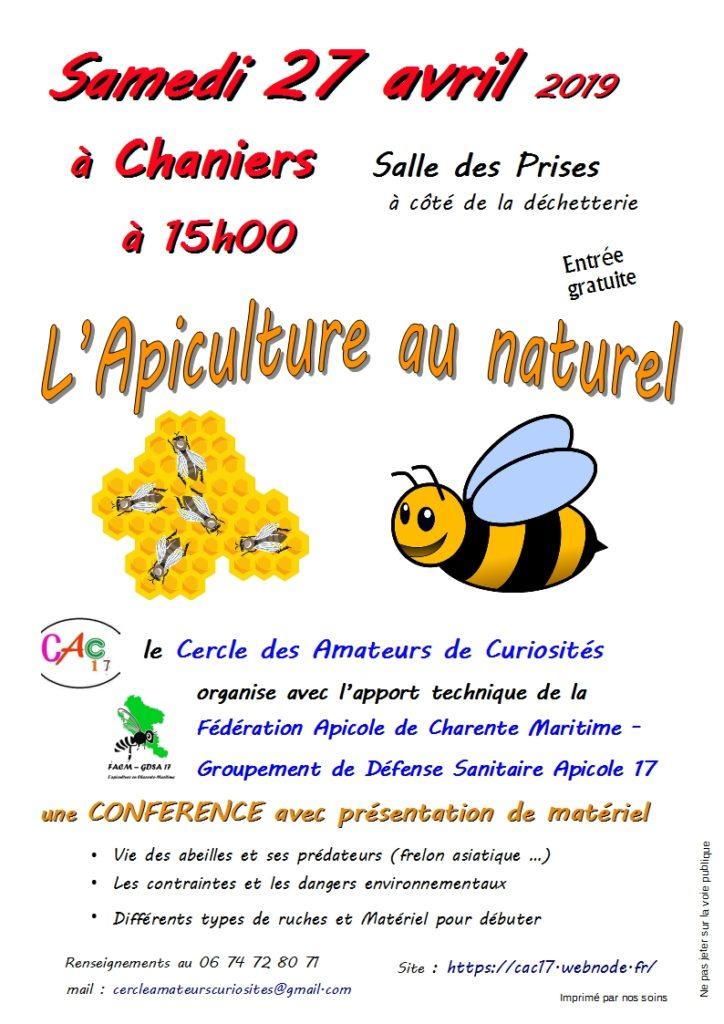 Conférence : l'apiculture au naturel @ Salle des Prises