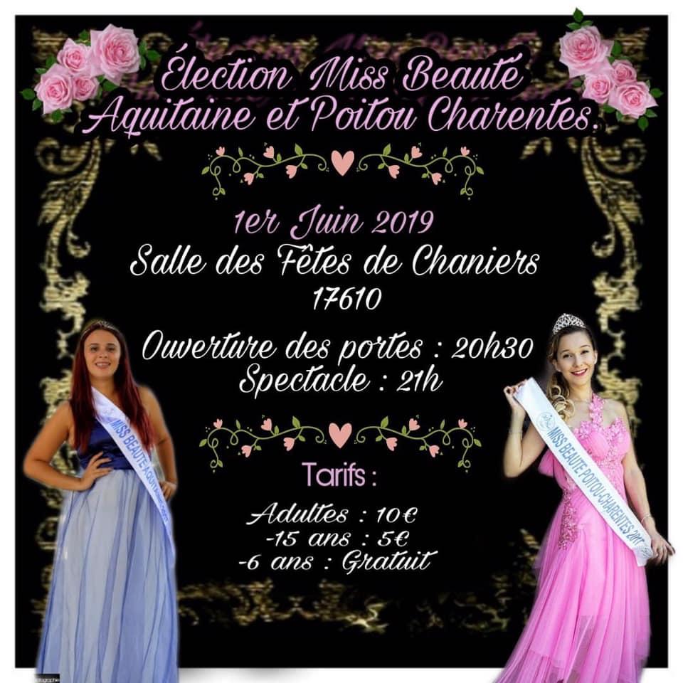 Election de Miss Beauté Aquitaine et Poitou Charentes @ Salle des fêtes