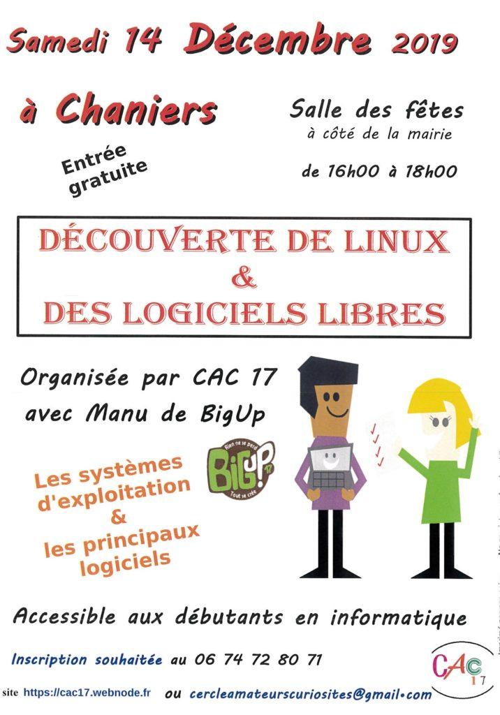 Découverte de LINUX et des logiciels libres @ Salle des fêtes